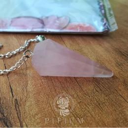 Маятник из натурального камня Розовый Кварц