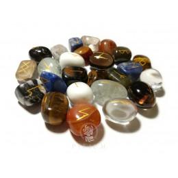Руны скандинавские из камней Ассорти 2-2,5см