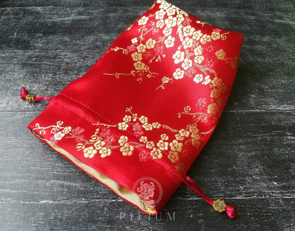Мешочек для карт Таро Золотая Сакура