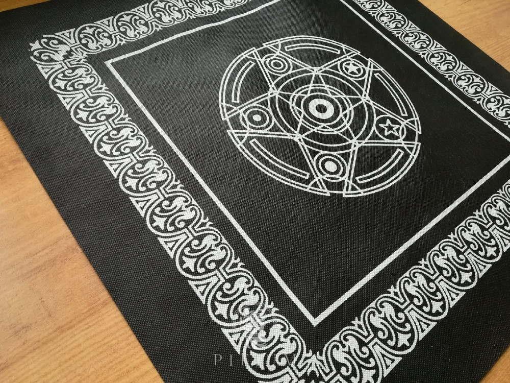 Скатерть для гадания на Таро черная (нетканое полотно)