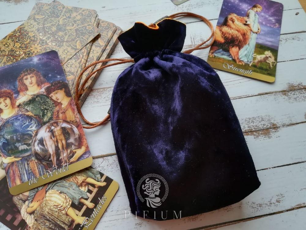 Мешочек для карт Таро Вдохновения Сине-фиолетовый бархат
